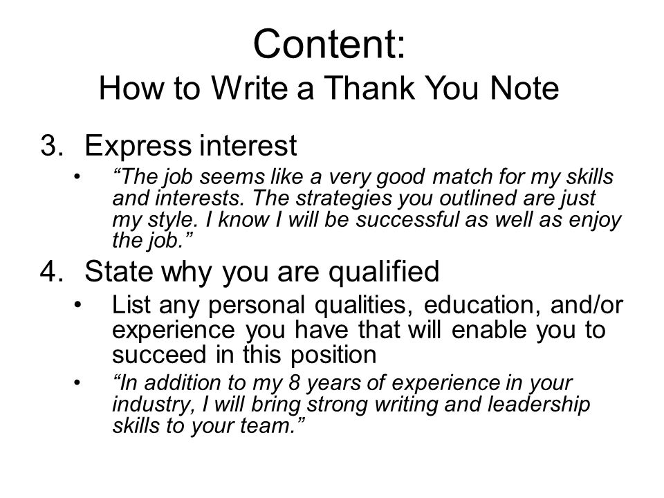 how to write a thank you letter after an interview thank you notes in the workplace ppt 22463 | Content%3A How to Write a Thank You Note