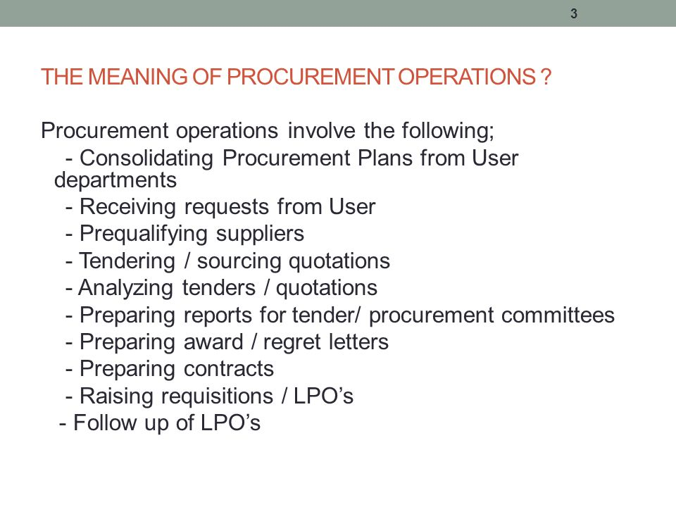 STREAMLINING PROCUREMENT OPERATIONS - ppt download