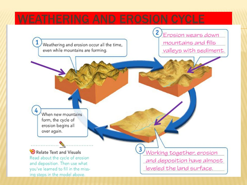 On Weathering Erosion And Deposition Cycle Diagram Auto Electrical