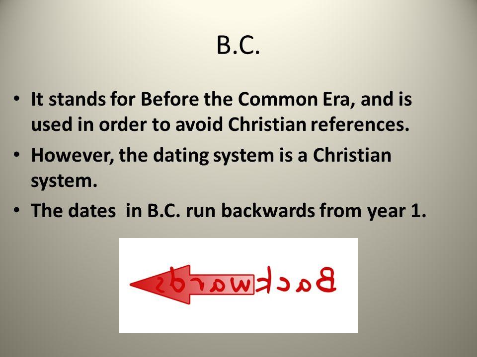 Dating BC και ad