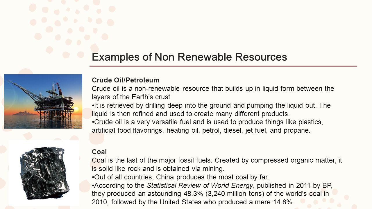 an example of a non renewable resource