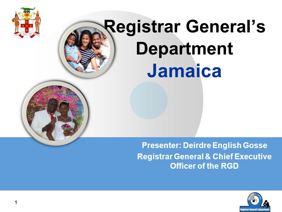 Registrar General's Department Jamaica