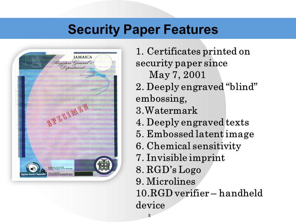 Security Paper Features
