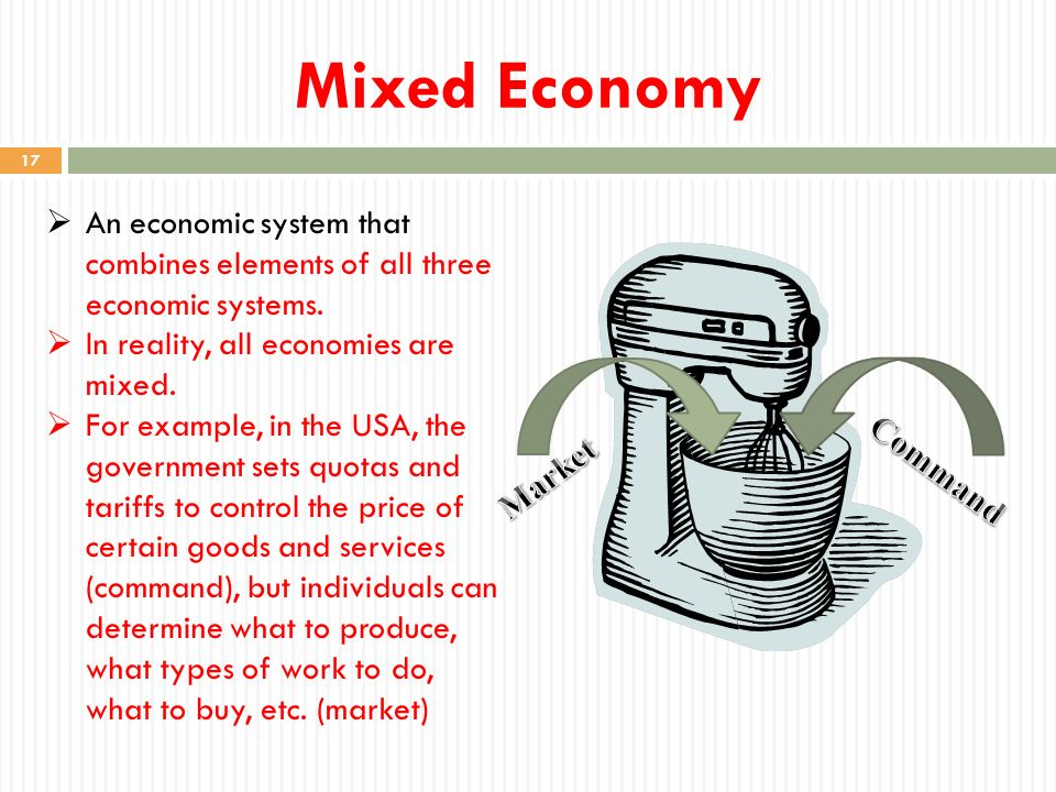 what is a mixed economic system