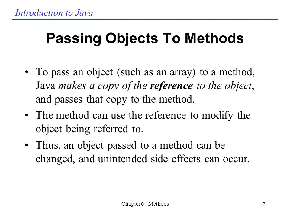 Chapter 6 Methods Chapter 6 - Methods  - ppt video online