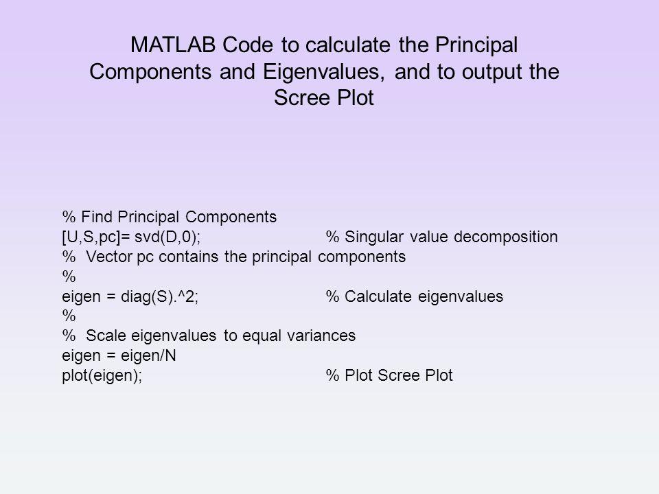 Pca Matlab Code