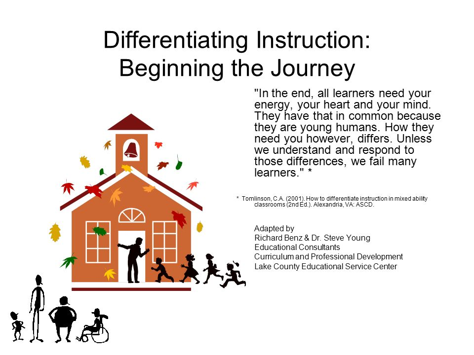 Differentiating Instruction Beginning The Journey Ppt Download