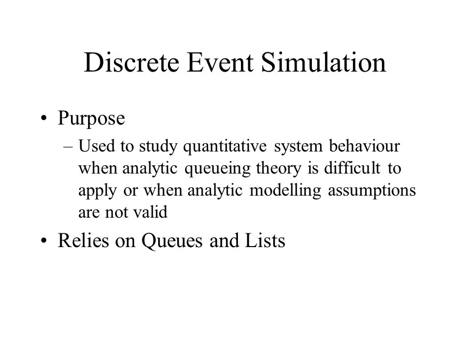 Discrete Event Simulation - ppt video online download