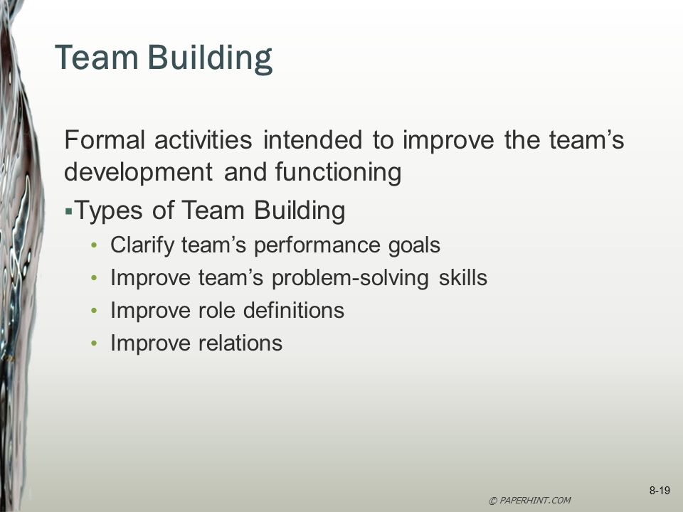 literature review building team effectiveness Of literature on the successful attributes needed for effective teamwork as follows: • commitment to team success and shared goals - team members are committed to the success of the team and their shared goals for the project.