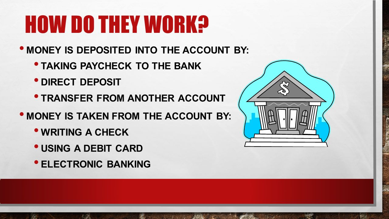 How do they check money