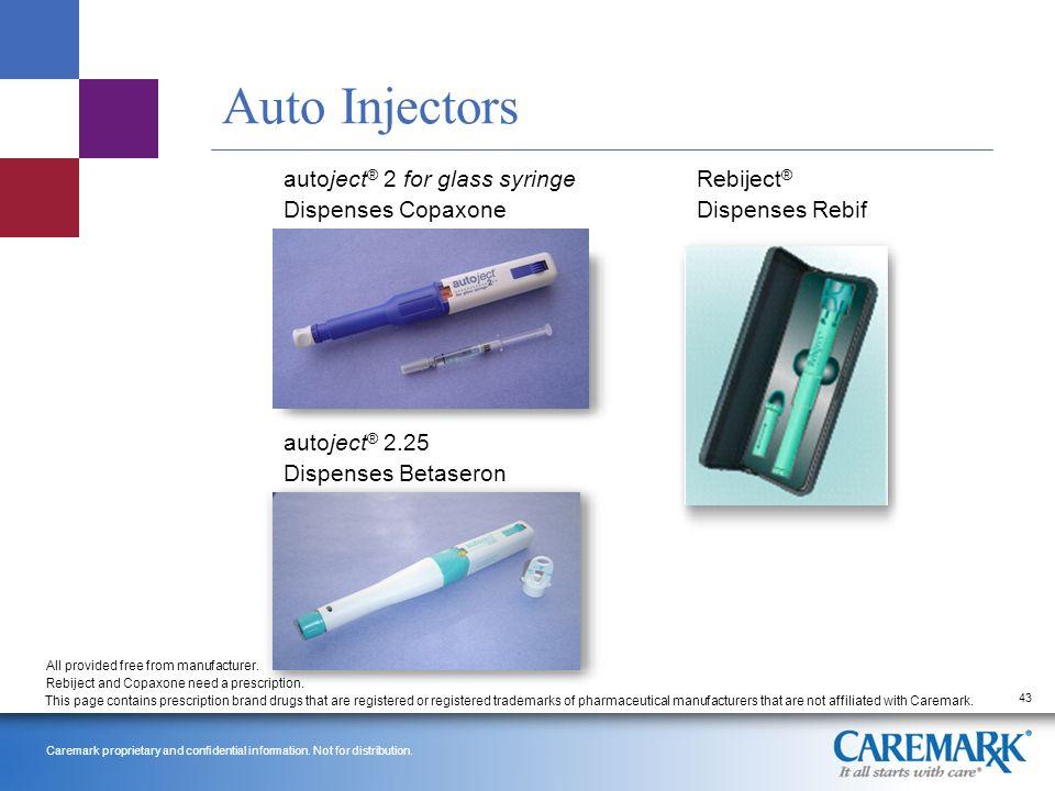 Copaxone auto injector
