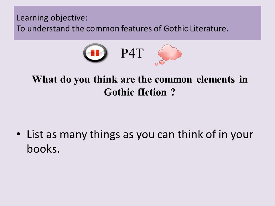 What Do You Think Are The Common Elements In Gothic Fiction