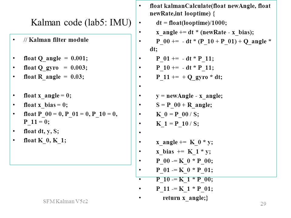 Matlab Code For Kalman Filter In Image Processing