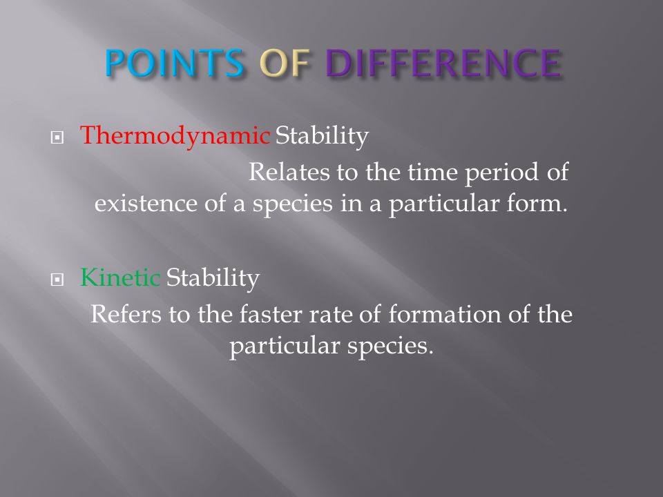 THERMODYNAMIC & KINETIC ASPECTS OF METAL COMPLEXES - ppt video
