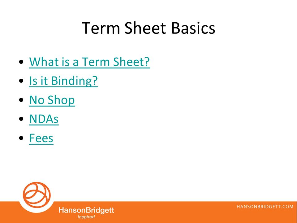 Term Sheets And Convertible Notes Structuring The Deal Ppt Download