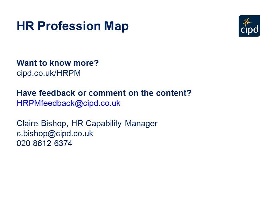 hr profession map