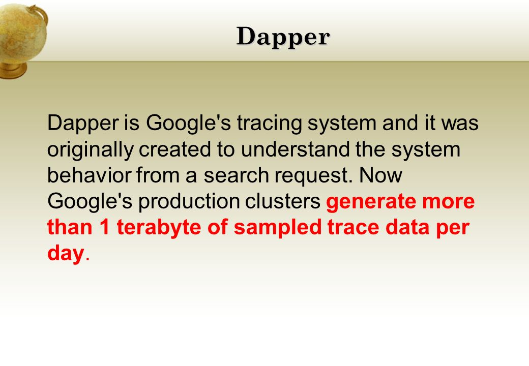 Dapper, a Large-Scale Distributed System Tracing