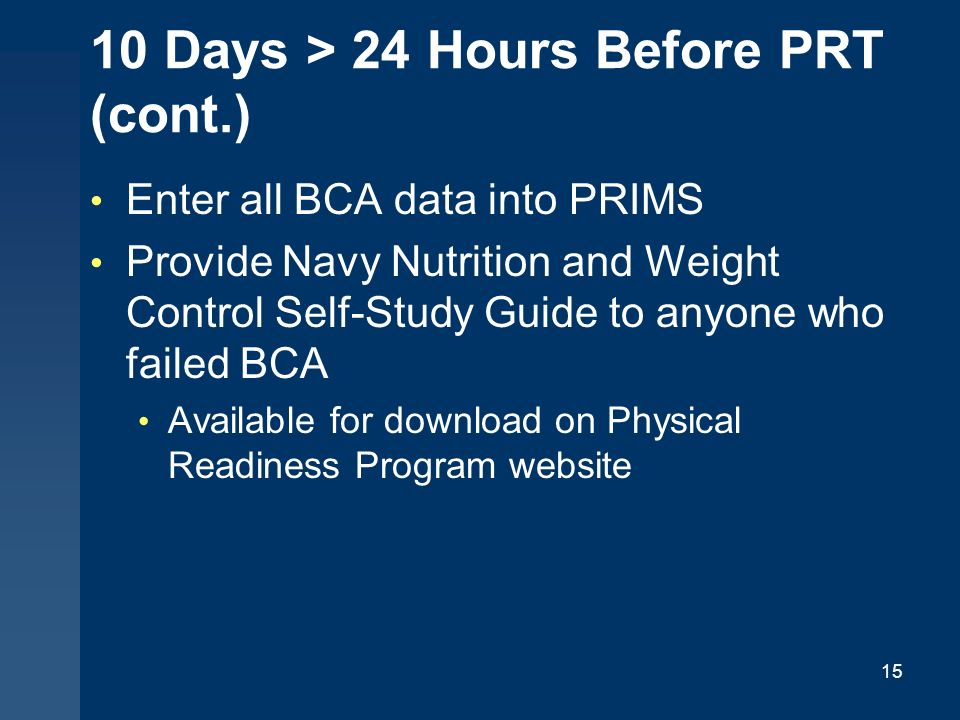 proper conduct of the physical fitness assessment pfa ppt video rh slideplayer com navy physical readiness program guide 6 navy physical readiness program guide 1