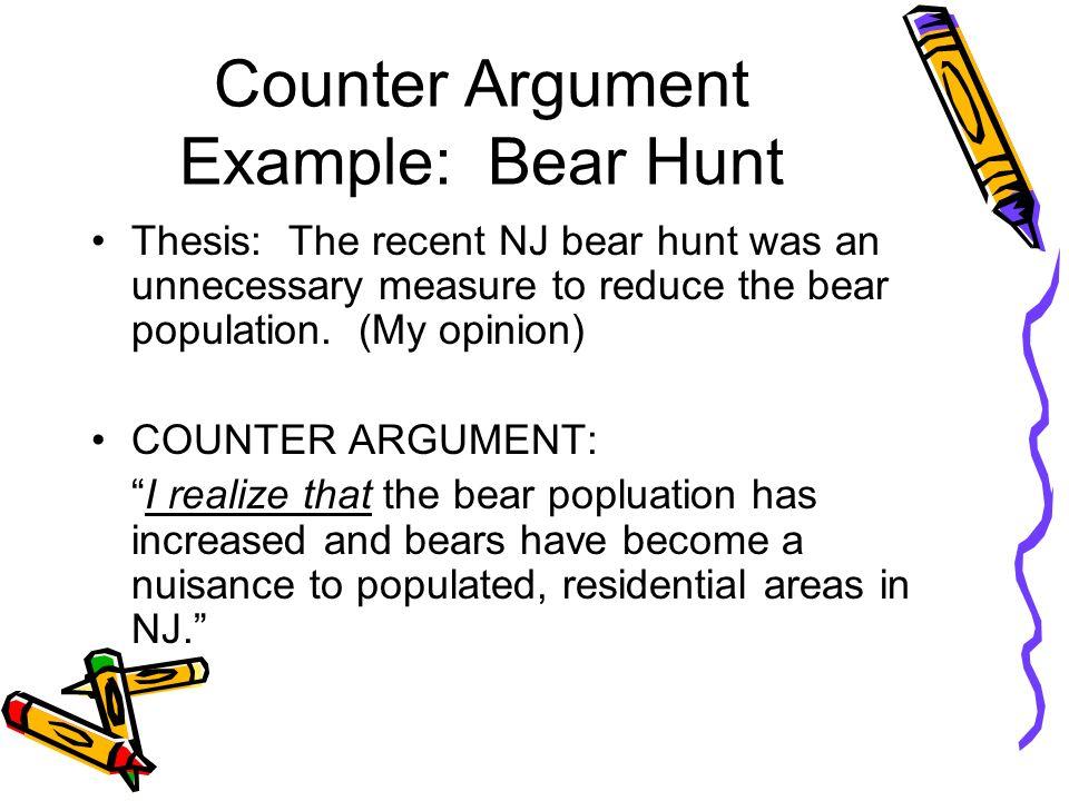 Counter argument essay