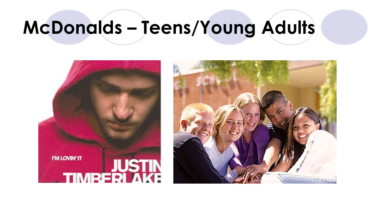 McDonalds – Teens/Young Adults