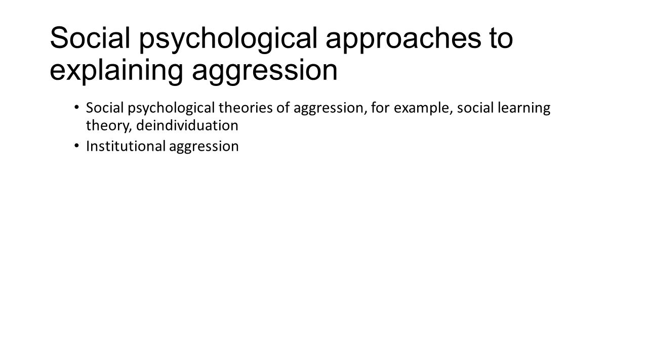 Aggression Ppt Video Online Download