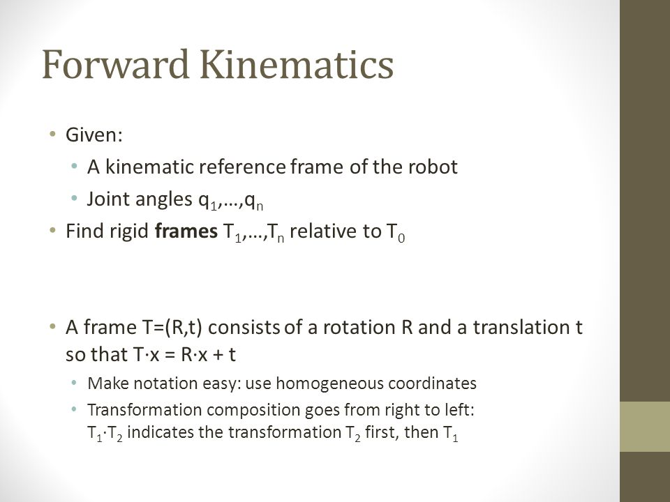 Forward Kinematics and Configurations - ppt download