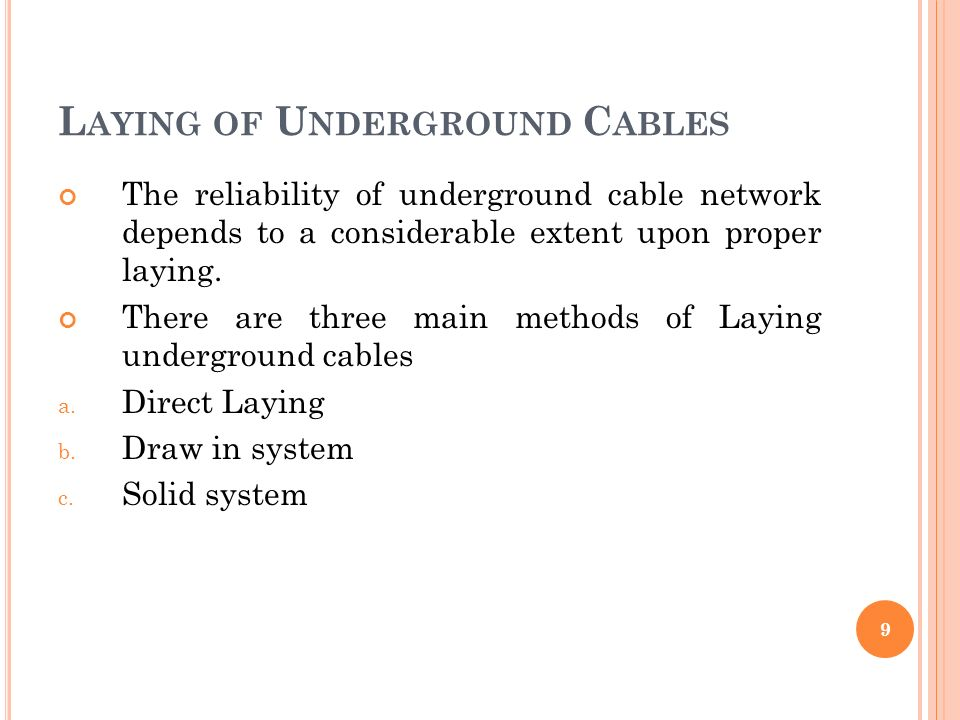 UNDERGROUND CABLE. - ppt video online download
