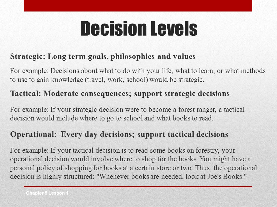 The Decision-Making Process - ppt video online download