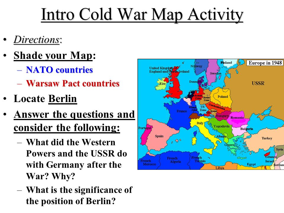 Cold War Germany Map