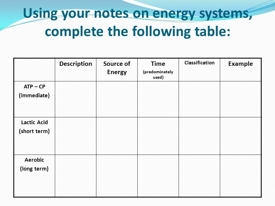 Worksheet For Energy Systems - Livinghealthybulletin