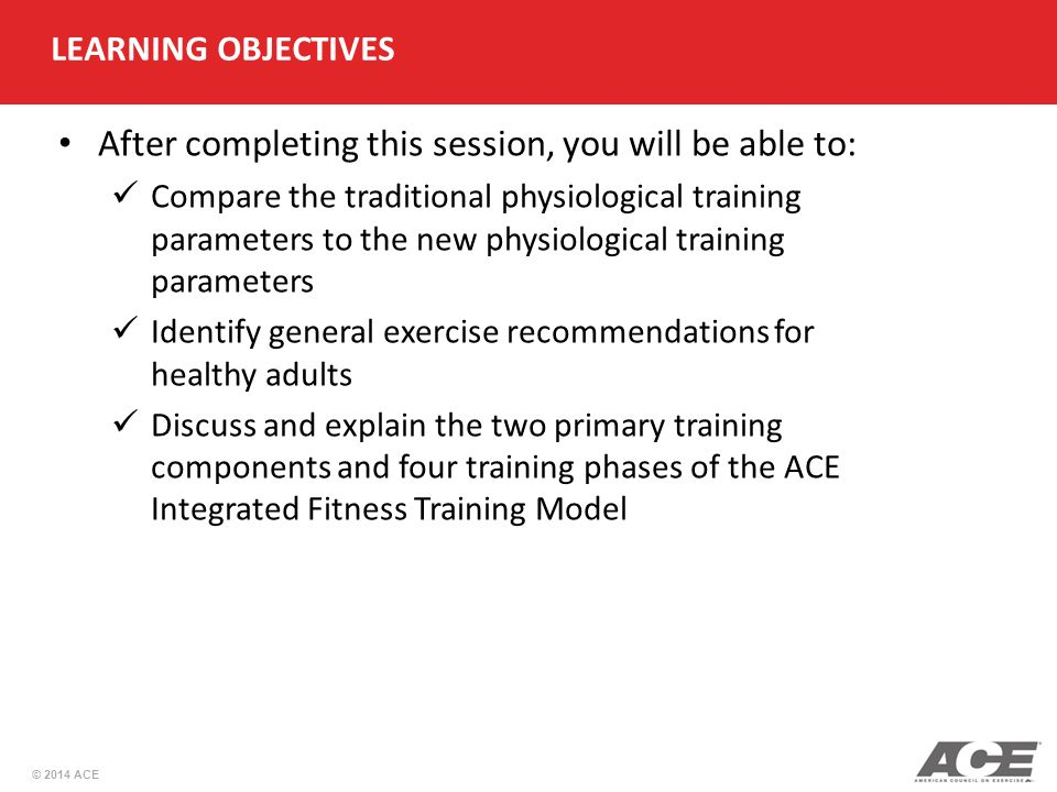 Ace Personal Trainer Manual 5th Edition Ppt Video Online Download