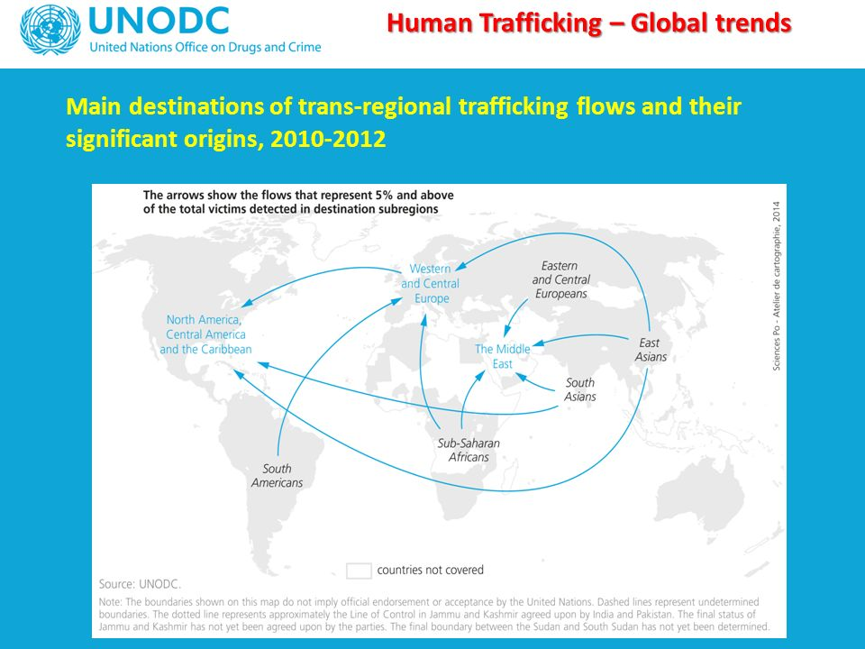 human trafficking global pattern This un office on drugs and crime report analyzes worldwide human trafficking data collected between 1996 and 2003 to identify global and regional patterns of reported trafficking in persons this report provides an in-depth review of these trends and includes a list of relevant terminology and.