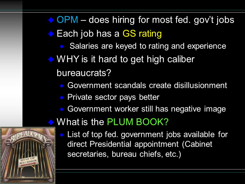THE BUREAUCRACY The Fourth Branch? - ppt video online download
