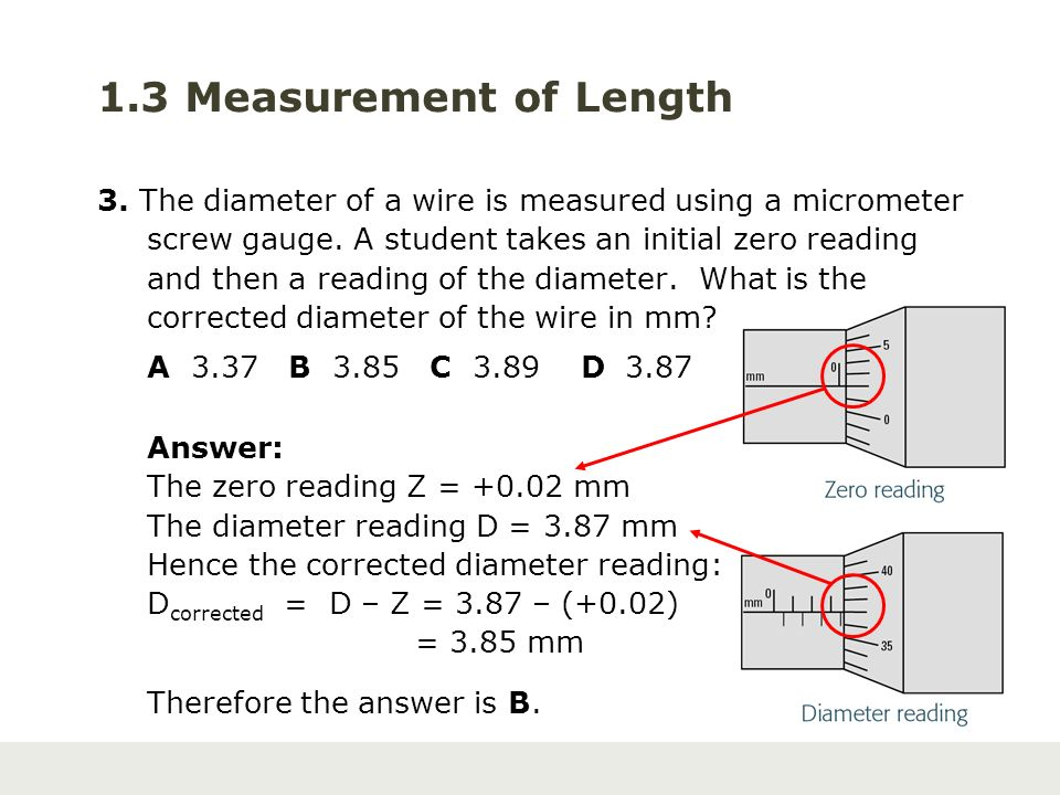 Discover physics for gce o level science ppt video online download 13 measurement of length 3 the diameter of a wire is measured using a micrometer keyboard keysfo Gallery