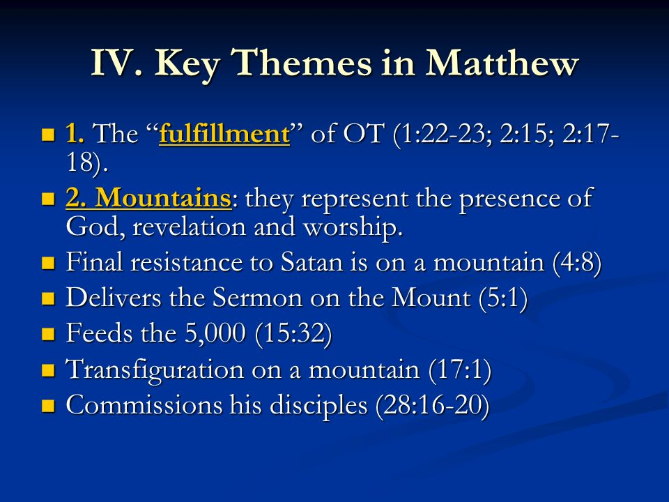 A Historical & Theological Background to Matthew - ppt download