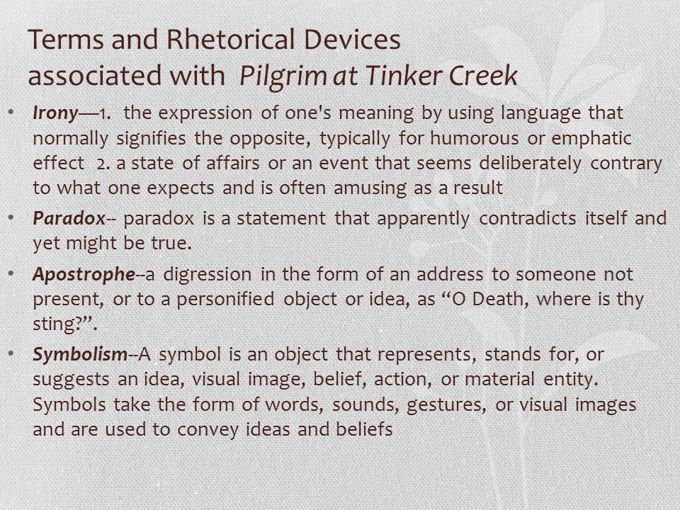 Pilgrim At Tinker Creek Ppt Download