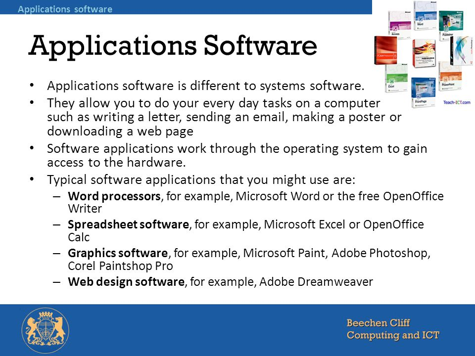 Chapter 3 Software Explain The Difference Between Systems Software