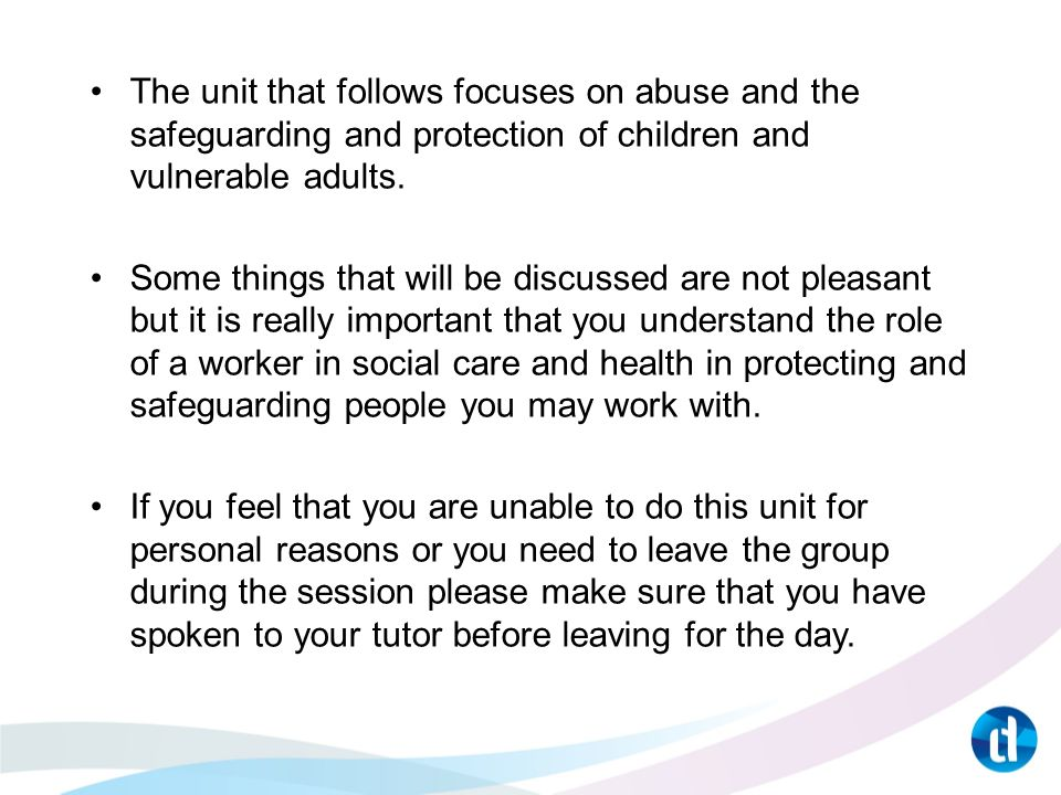 1 2 explain child protection within the wider concept of safeguarding and young people 12 explain child protection within the wider concept of safeguarding children and young people 31 explain why it is important to ensure children and young people are protected from harm within the work setting 32 explain policies and procedures that are in place to protect.