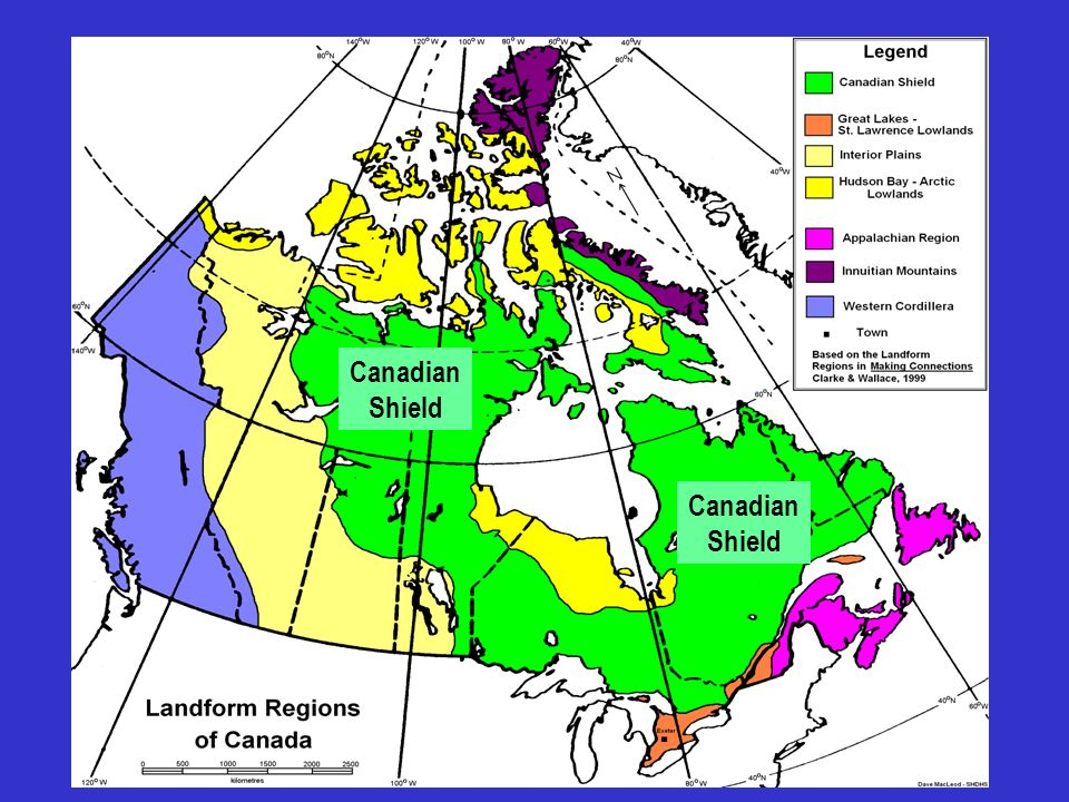 The Pattern of Canada's Landforms - ppt video online download on