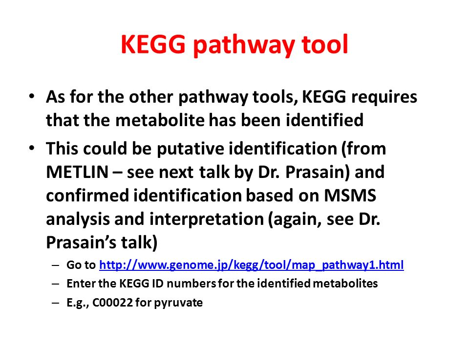 Pathway analysis in metabolomics - ppt video online download