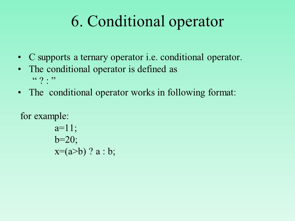 C conditional operators c programming c4learn. Com.