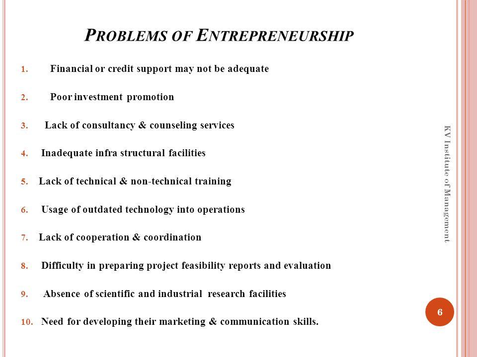 problems of entrepreneurship