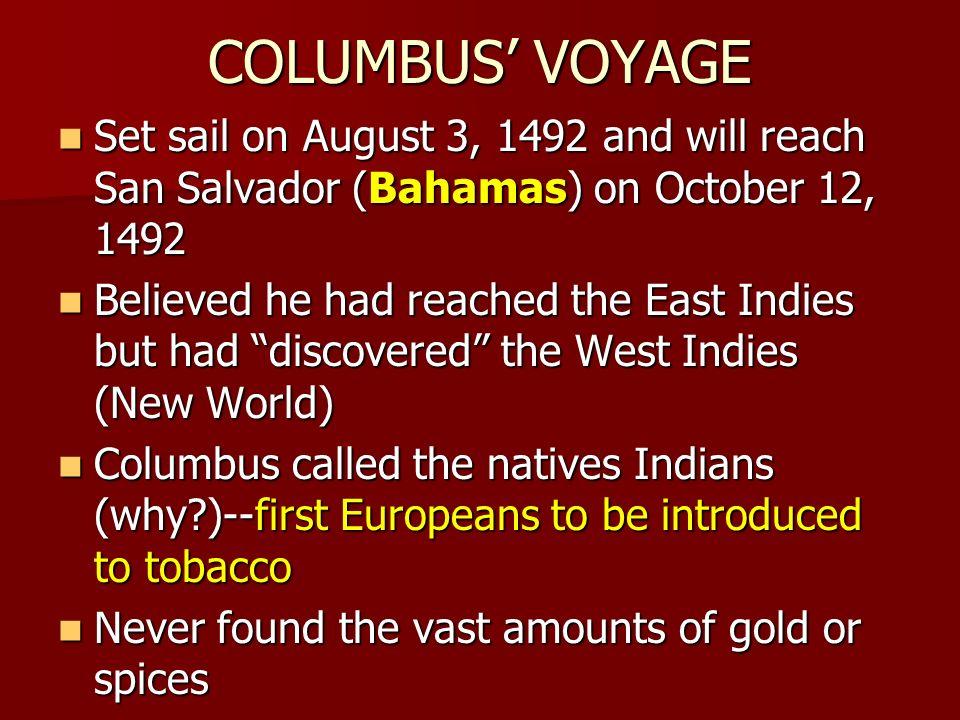 Amerigo Vespucci First Voyage