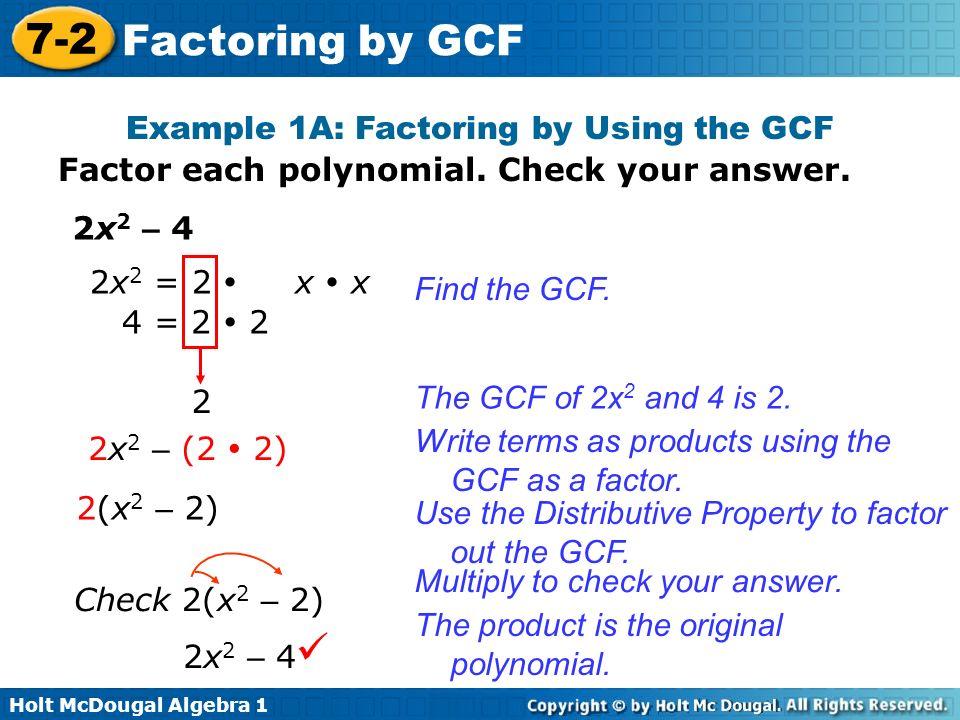 How To Factor Using Gcf - GANGBANGS