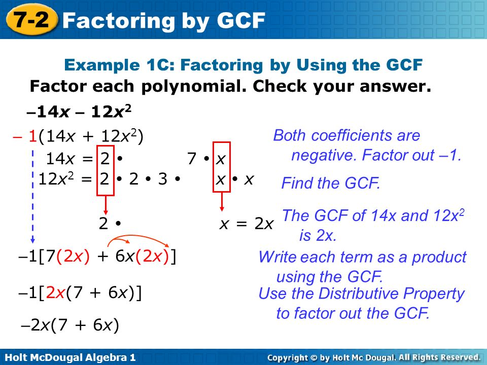 Objective Factor Polynomials By Using The Greatest Common Factor