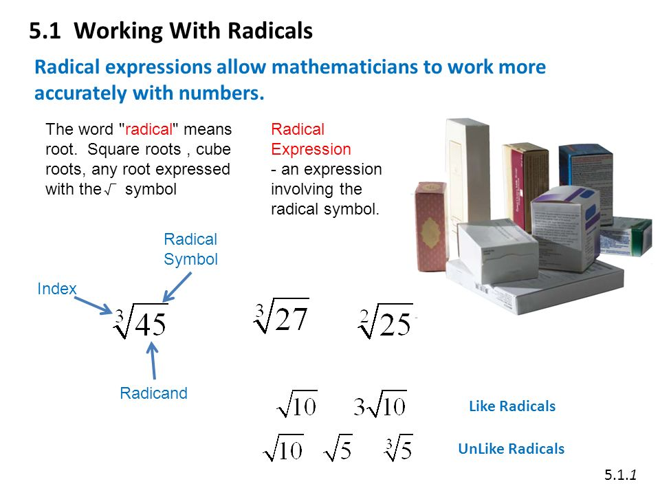 Math 20 1 Chapter 5 Radical Expressions And Equations Ppt Video