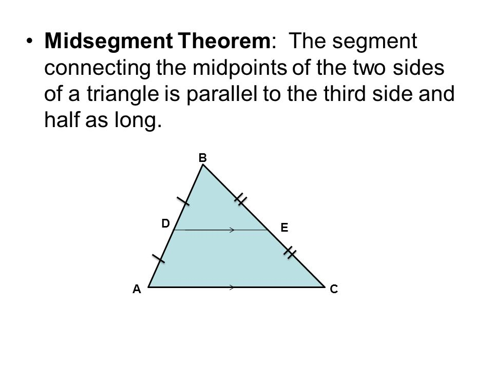 5 4 Midsegment Theorem Identify The Midsegment Of A Triangle Ppt