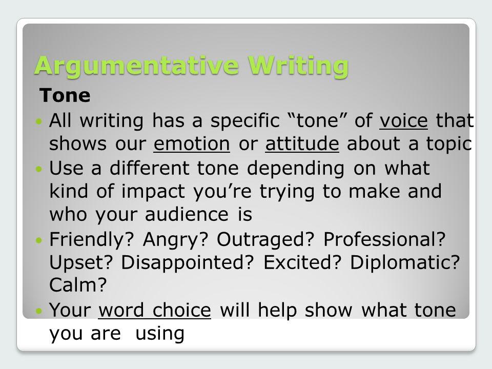 argumentative tone words
