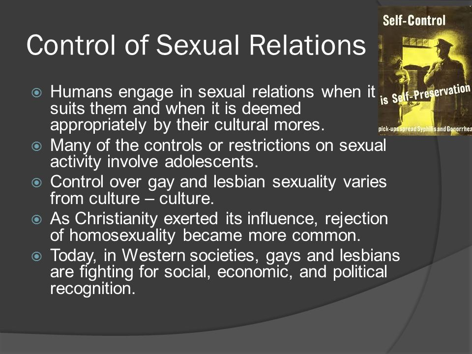 Control of sex in a marriage