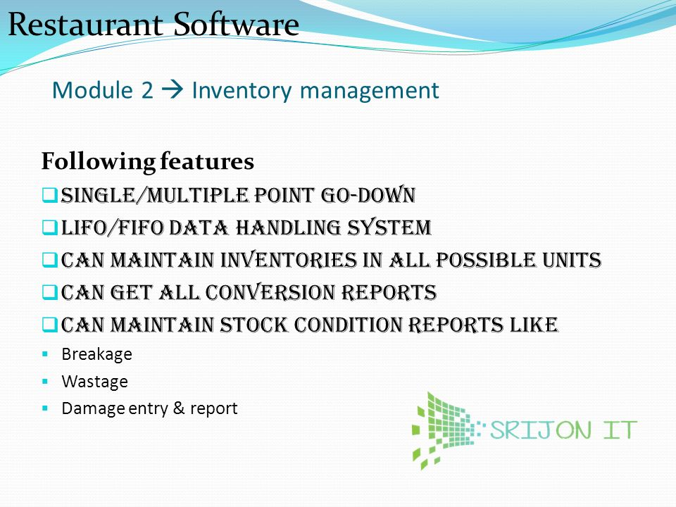 VIRTUAL Restaurant Software - ppt video online download
